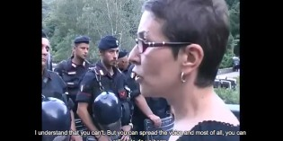 Italian Activist Reproaches Local Police Serving Corporate Interests (Video)