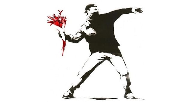 Banksy Red Flowers-1