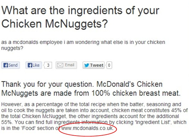 How McDonald's Evades Info on Ingredients