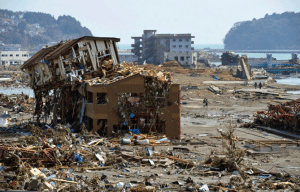 Destruction caused by the 3/11 tsunami