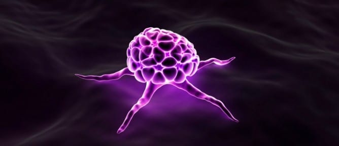 cancer cell purple