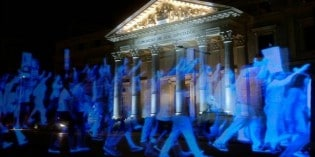 Historic Hologram Protest Against Spain's Gag Law