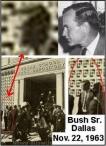 The man in the above photo at Dealey Plaza on the day of the JFK assassination looks suspiciously like George Bush.
