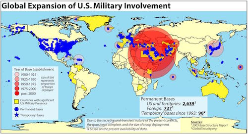 Eleven Ominous Signs That We Are Racing Towards War With Iran - Map of us naval bases globally