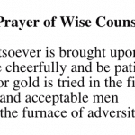 Prayer of Wise Counsel