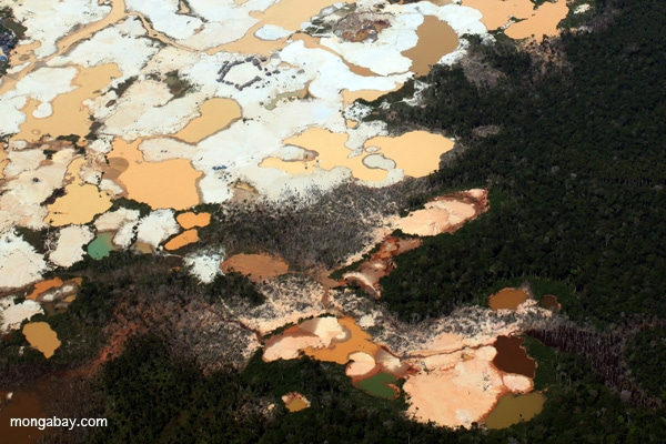 Gold mining in the Peruvian Amazon. Photo by Rhett A. Butler