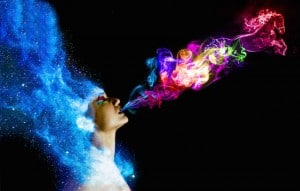 Universe Breathing Smoke