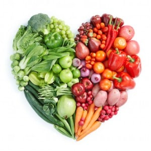 Fruit and Veggie Heart