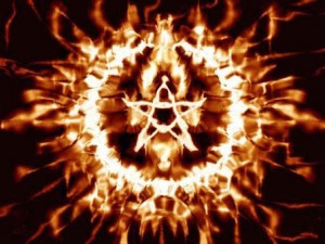 Pentagram Satanic Occult Fire