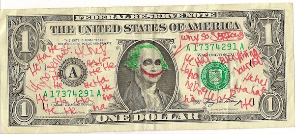 Joker Dollar Bill