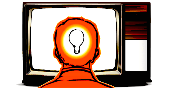 TV Screen Thinking Head - 2