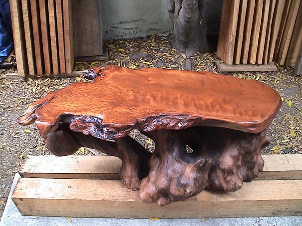 Redwood Burl Table