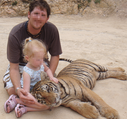 Tiger Temple Selfie with Kid-1
