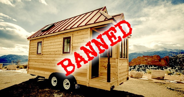 Tiny house on Wheels-Banned