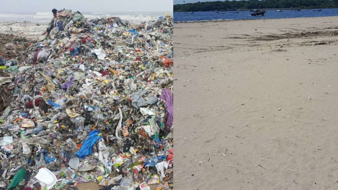 Remarkable beach cleanup effort in Versova, India