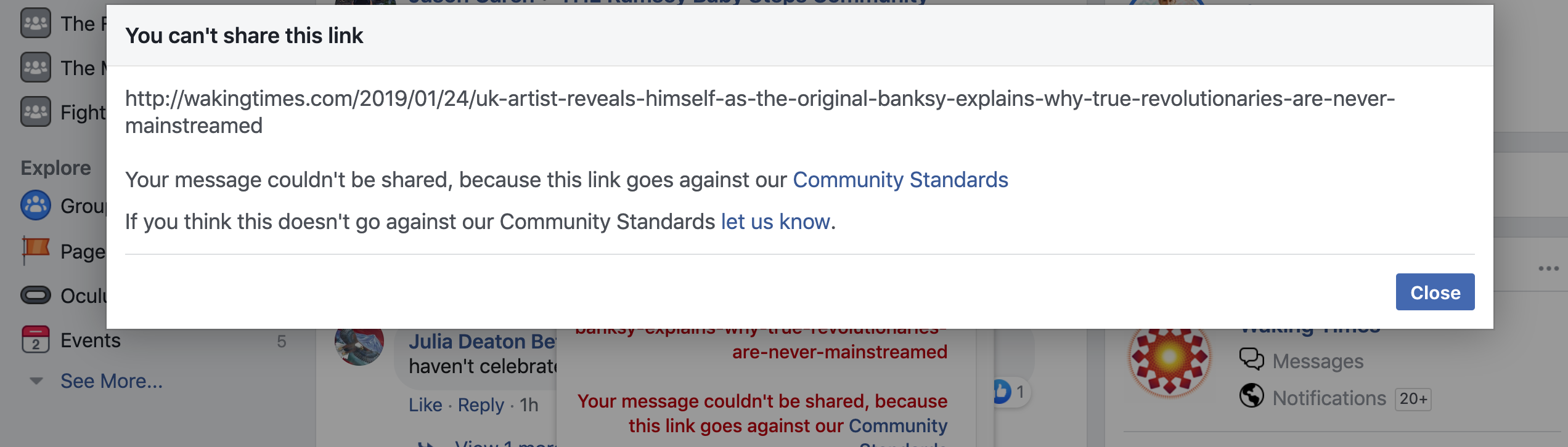 banned fb