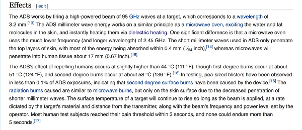 5G and mmWave – The Active Denial System (ADS) and How mmWave can be Weaponized Effects