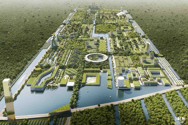 "Architects Are Designing A 100% Food And Energy Self Sufficient ""Smart Forest City"""